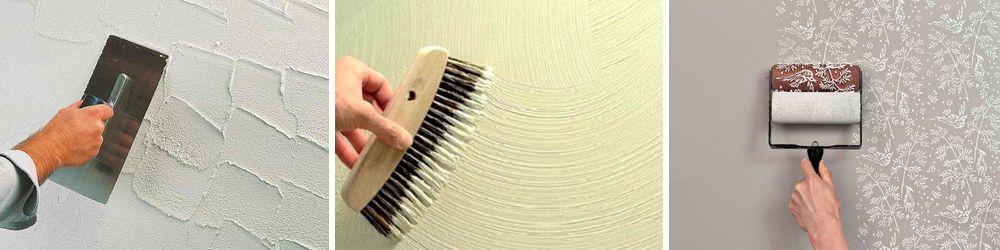 Фактурная краска для стен. Способы нанесения.